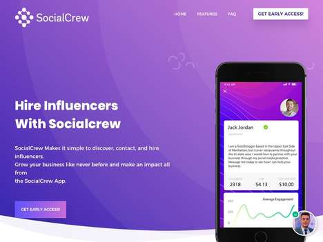 Accessible Influencer Marketplaces - The 'SocialCrew' Marketplace Simplifies Influencer Marketing