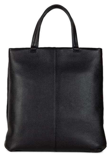 Secure Pebbled Leather Totes