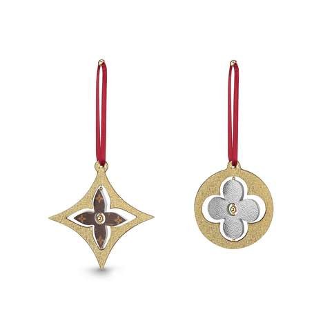 Opulent Fashion House Ornaments - The Louis Vuitton Monogram Christmas Ornaments are Finely Crafted
