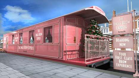 Festive Grooming Pop-Ups - Benefit Cosmetics' 'Jingle Brow Express' Provides Last-Minute Services