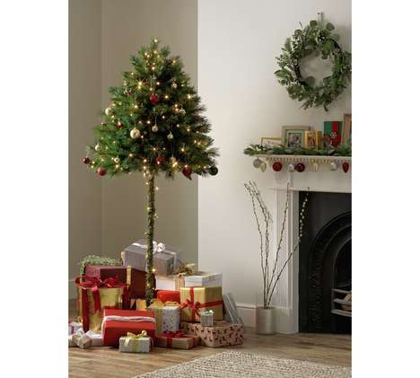 Cat-Friendly Christmas Trees - Argos' Parasol-Like Half Christmas Tree is Ideal for Cat Owners