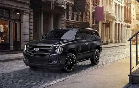 Demurely Dark Luxury SUVs