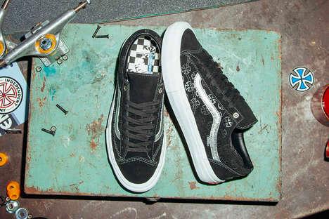 Logo-Embossed Suede Sneakers