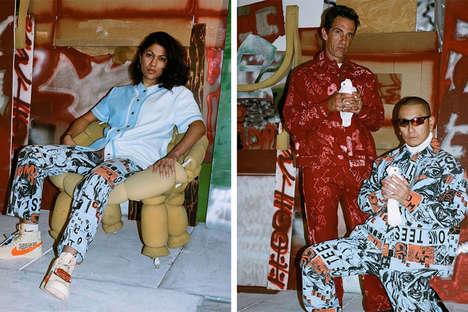 Graffiti-Emblazoned Retro Streetwear