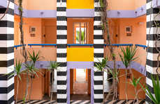 Incredibly Vibrant Hotel Designs - Camille Walala Adorns the Salt of Palmar Hotel with Exquisite Art
