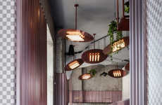 Dust Pink-Accented Bar Interiors