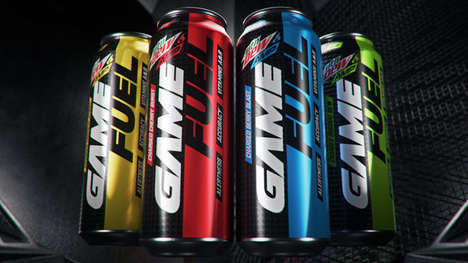 Energy Boosting Gamer Beverages - The MTN Dew Amp Game Fuel Comes in Four Flavor Options