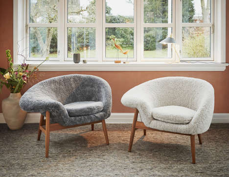 Ultra-Cozy Sheepskin Chair Designs