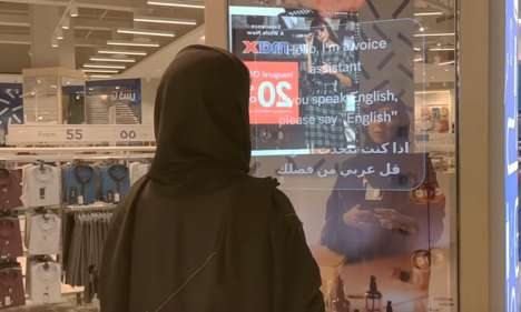 Bilingual Voice-Activated Retail Screens