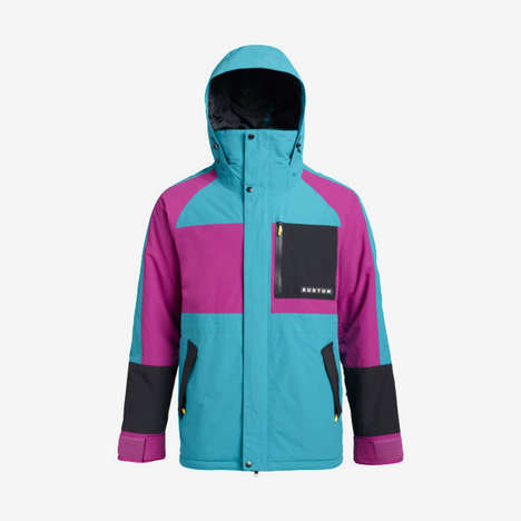 Colorful Retro-Inspired Snowboard Outerwear
