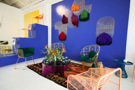 Vibrant Wire Furniture Showrooms - Bend Goods Opens Its New Showroom and Studio Space in Los Angeles