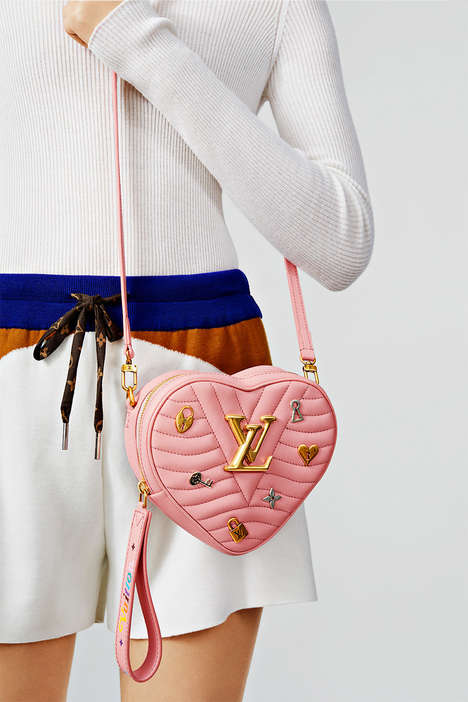 Quilted Heart-Shaped Bags