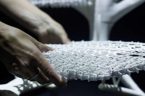 Innovative Biomimicry Chair Designs - Lilian Van Daal's 3D-Printed Chair Uses Recycled Materials