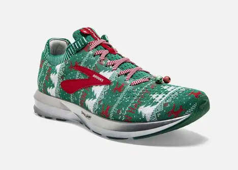 Ugly Sweater-Inspired Sneakers - The Brooks Levitate 2 Ugly Christmas Sweater Shoes are Festive