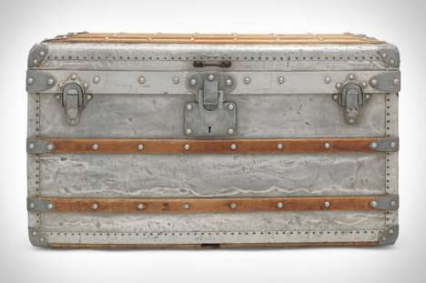 Rare Luxury Storage Trunks - Bidding for Louis Vuitton's 'Aluminum Explorer Trunk' Starts at $63,000