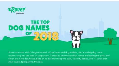 Popular Dog Name Reports - Rover.com Releases an Infographic with the Top Canine Names for 2018