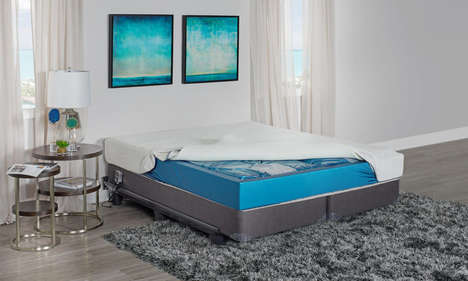 Modernized Waterbed Mattresses - The 'Afloat' Bed Encourages Better Blood Circulation and More