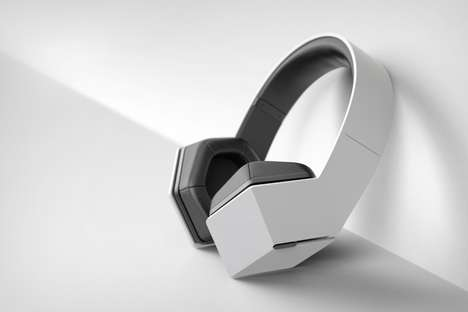 Artistic Hexagonal Headphones