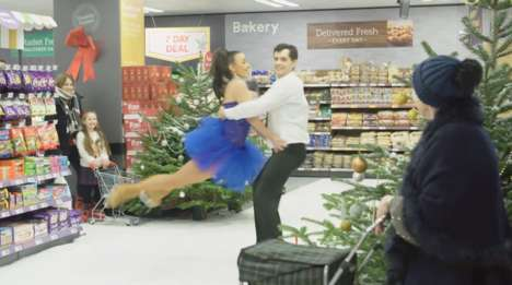 Ice Rink Supermarkets - Iceland Created an In-Store Holiday Ice Rink Concept