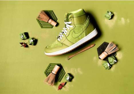 Matcha-Inspired High-Top Sneakers