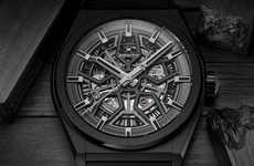 Neo-Traditional Blacked-Out Timepieces