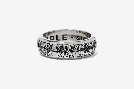 Slogan-Engraved Silver Jewelry - BEAMS and Maple Joined Forces to Honor Age and Transformation