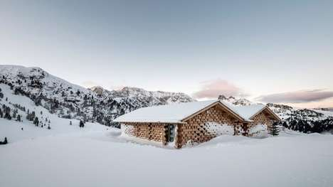 Cozy Wooden Alpine Chalets - Network of Architecture (NOA) Designs Shelters on the Seiser Alm Slopes