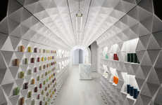 Crinkled Tunnel-Like Retail Experiences - Tacklebox Architecture Boasts a Chic Sculptural Interior