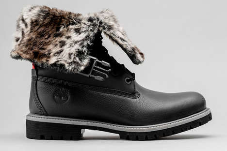 Faux Leopard Fur Boots - STAMPD and Timberland Introduced a Folded Gaiter Boot for the FW18 Season