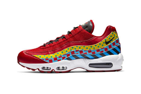 Carnival-Inspired Vibrant Sneakers - The New Air Max 95 Essential Sneakers Show Off Bright Prints