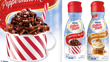 Seasonally Indulgent Coffee Creamers - The Coffee-Mate Holiday Creamers Come in Two Flavor Options