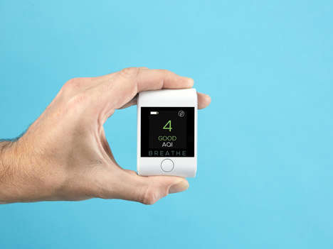 Personal Air Pollution Monitors - BREATHE|Smart Can be Used for Home and On-the-Go