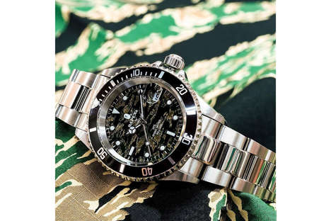 Camouflage-Face Polished Watches - The New Type 1 BAPEX Watch is Inspired by Luxe Rolex Timepieces