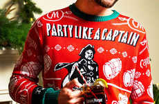 Festively Branded Rum Sweaters