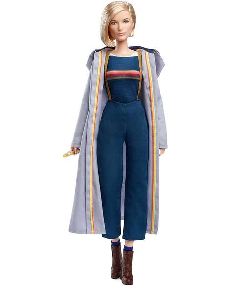 Feminine Sci-Fi Franchise Dolls - The Barbie Doctor Who Thirteenth Doctor Collector Doll is Detailed