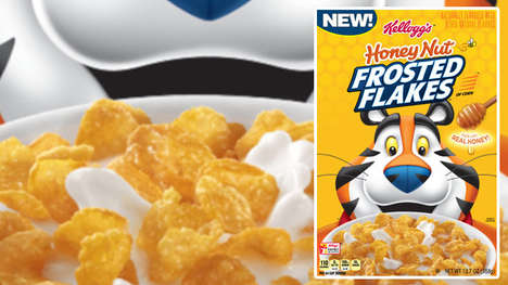Balanced Honey-Infused Cereals - The Kellogg's Honey Nut Frosted Flakes will Debut in 2019