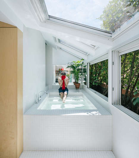 Bathtub-Accessible Secret Rooms - Gon Architects Boasts an Unconventional Secret Room Idea