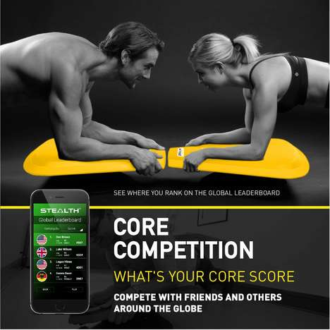 Dynamic Core-Toning Fitness Boards - The Stealth Plankster Core Trainer Brings Fun to Workouts