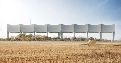 Wavy Water Tower Designs - White Arkitekter Plans a Large Reservoir for Water in Varberg, Sweden