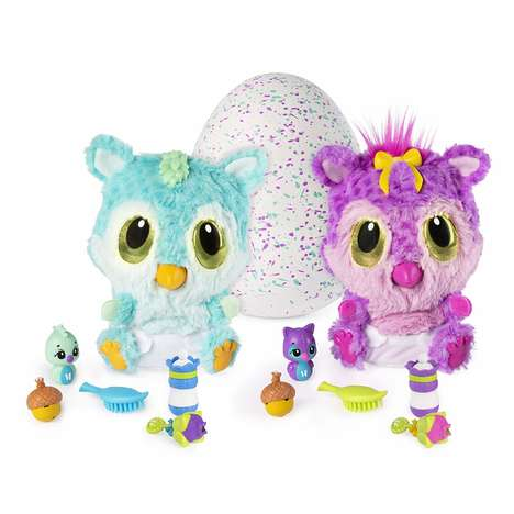 Hatching Baby Monster Toys - Hatchimals HatchiBabies Come with a High Chair and Hidden Accessories