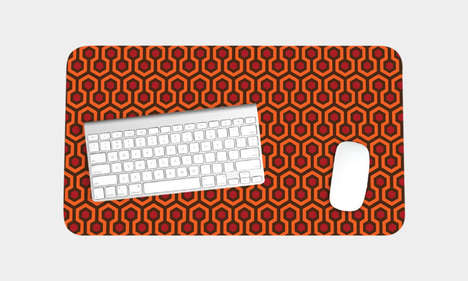 Cinematically Chic Workstation Mats - The Overlook Hotel Pattern Desk Mat is Retro-Inspired