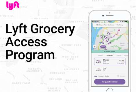 Grocery Store Rideshare Initiatives - The Lyft Grocery Access Program Offers Low-Cost Rides