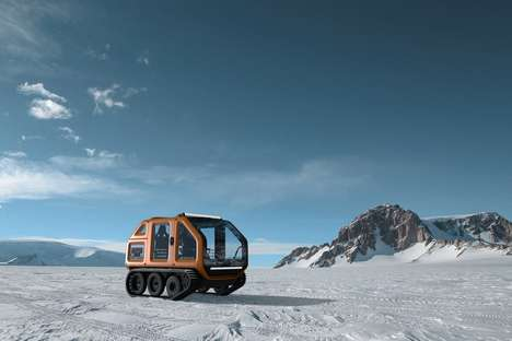 Icy Exploration Vehicles - The Finalized Venturi Antarctica Vehicle Allows for Comfy Exploration