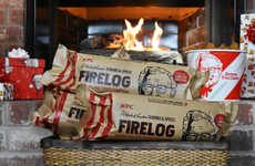 Scented Eco Firelogs - The KFC 11 Herbs & Spices Firelog Replicates the Aroma of Fried Chicken