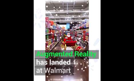 Festive AR Retail Experiences - Walmart's Holiday AR Lets Shoppers See Aisles Through a New Lens
