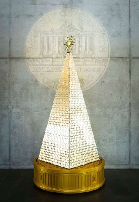 Gilded Multi-Million Dollar Trees - The Pro Aurum Christmas Tree is Made from 2,018 Golds Coins