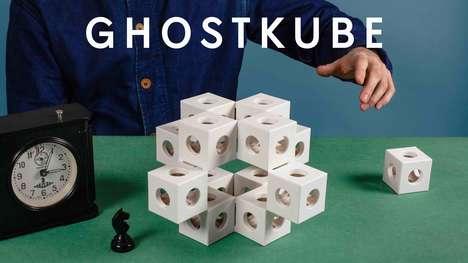Sculptural Shifting Building Cubes
