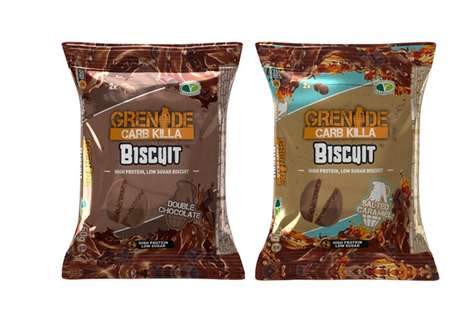 Textured Chocolate Protein Snacks
