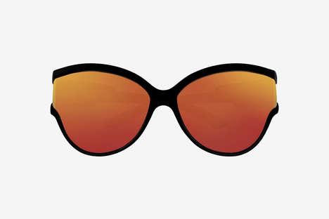 Fluorescent Oversized Sunglasses