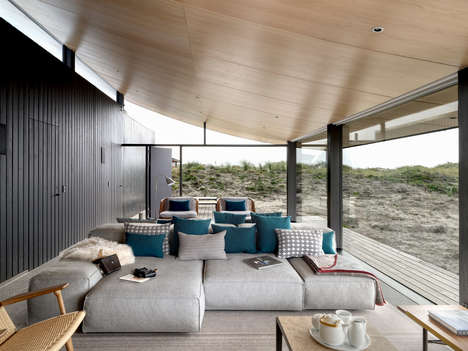 Contemporary Island Summer Houses - Knud Holscher Builds a Fully Glazed Building on the Fanø Coast